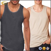 Ecoach Wholesale OEM High Quality 100% Cotton Men's Jersey Tank Top Round Neck Customized Design Tops for Muscle Man