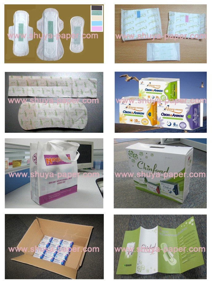 Pure Cotton Sanitary Pads with Negative Ion