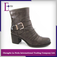 T852-S927 low heel boots autumn winter girl black ankle boots