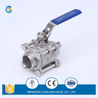 3pc Welded stainless steel high pressure ball valve