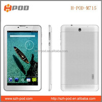 7 inch android tablet pc 2g phone call mtk6572 dual core dual sim bluetooth big battery