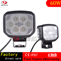 New Arrival Motorcycle/Auto Spare Parts 60W Square Shape 4 inch Led Work Light