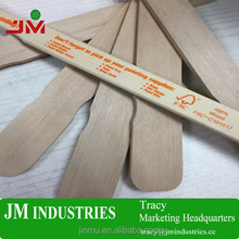 logo printed wooden paint paddle mixing stirrer stick