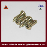 Philips Cross Pan Head Screw In Furniture Casters By Self Tapping Thread Yellow Zinc Plated