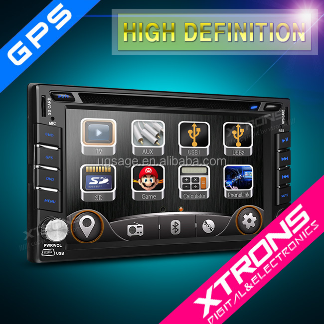 "Xtrons 2016 New 6.2"" HD TFT Touch Screen Double Din Car auto DVD Player GPS Navigator with Screen Mirroring forNissan TD619G"