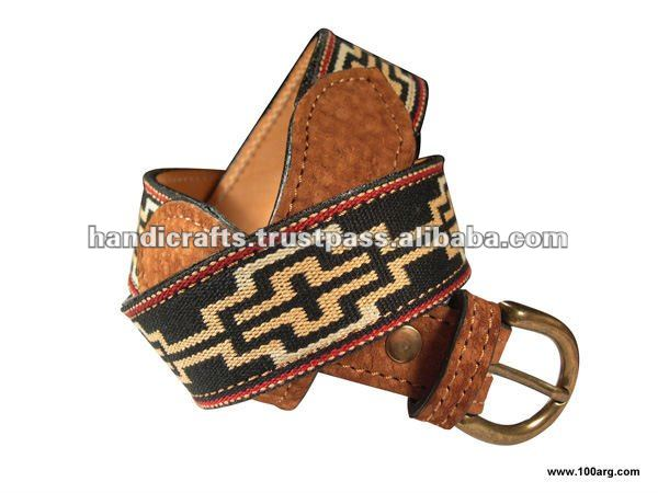 BELT IN CAPYBARA AND INDIGENA DESIGN