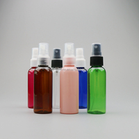 50ml colorful plastic PET empty clear water mist spray bottles/jars