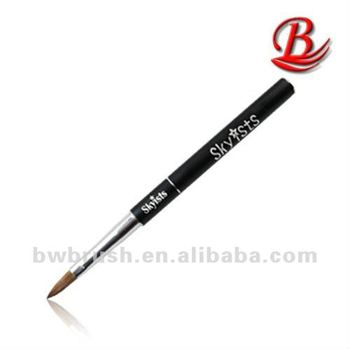 Black Metal Handle Kolinksy Hair Acrylic Brush With A Cap
