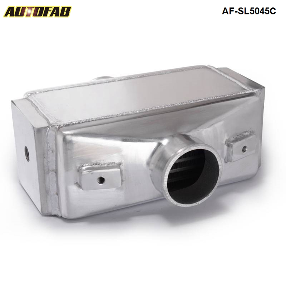 "AUTOFAB- Universal Aluminum 12""x11""X4.5"" Bar & Plate Front Mount Water-To-Air Intercooler I/<strong>O</strong> <strong>3</strong>.0"" TK-SL5045C"