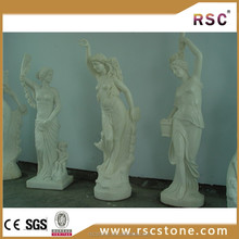 Garden marble statue in white marble for virgin mary