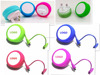2016 YOYO new wall charger with 2in1 cable 5v1A usb charger for iphone smartphone