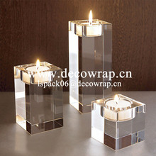 Home decoration crystal candle holder