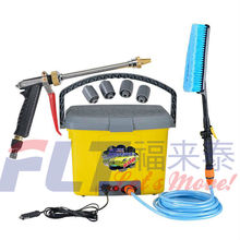 High pressure portable car washer equipment with 25L bucket
