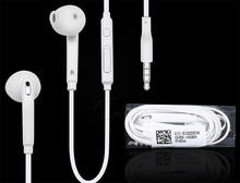 For samsung galaxy S6 earphone 3.5mm with volume control and mic
