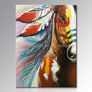Hand painted canvas wall art abstract horse oil painting modern decorative artwork