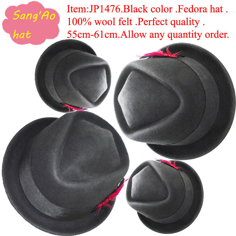 Wholesale/Making perfect short brim man texas hats winter felt cap woman/man100%wool felt wear in festvial /party /dress