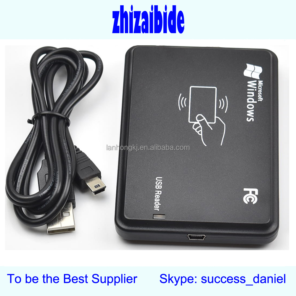 125KHz Black USB Proximity Sensor Smart RFID ID Card Reader EM4100 EM4200 EM4305 T5577 or Compatible Cards Tags no Need Driver