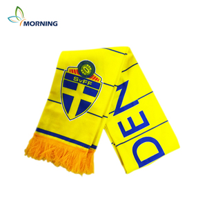 2018 world cup football Sweden team soccer fans scarf
