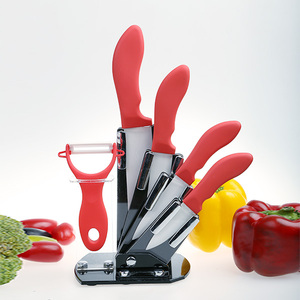 Amazon Hot selling ceramic knife with colorful handle top quality ceramic kitchen knife Set