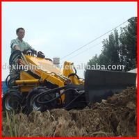Professional Mini Skid steer loader with snow blade