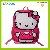 SANDOO best selling pink hello kitty girl kids bag school,wholesale backpack school bag