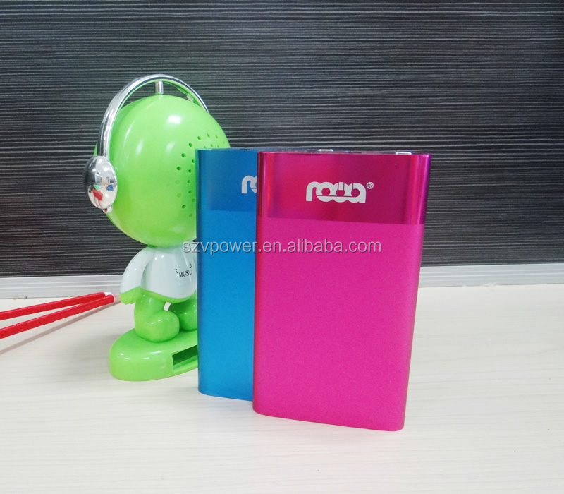 V-power aluminum case card power bank 6500mah portable power bank charger tablet and laptop