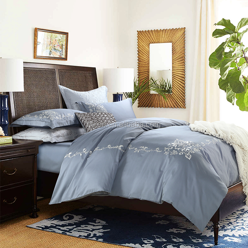 luxury bedding set king size bedroom sets 100%cotton high quality embroidered comforter set
