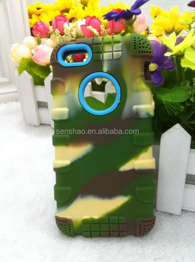 Cheap silicone Case For iphone 6plus3d silicone for apple iphone6 camouflage TPU case