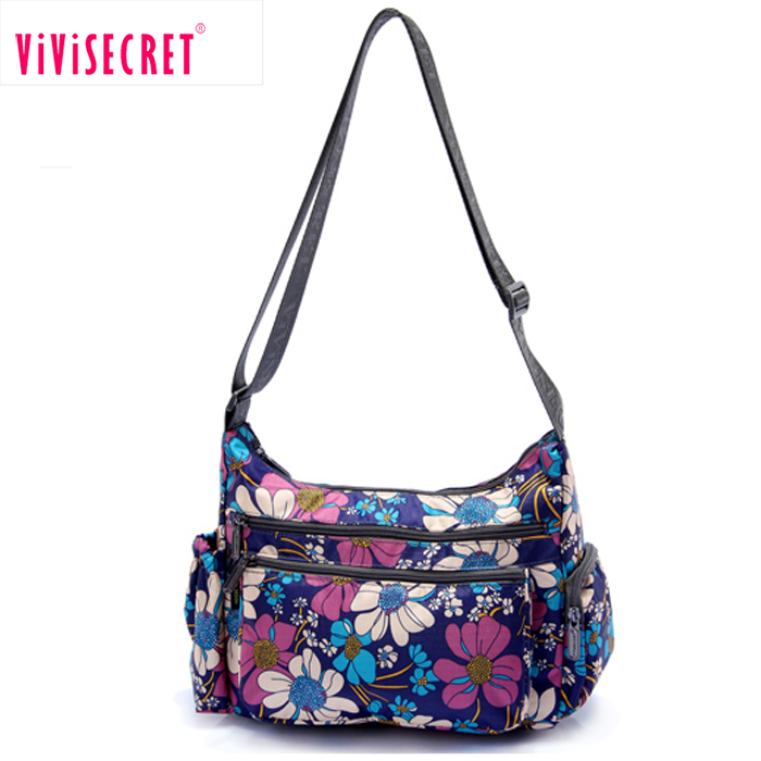 Made your own design digital printing cross body bag fashion summer nylon lightweight fashion women messenger bag