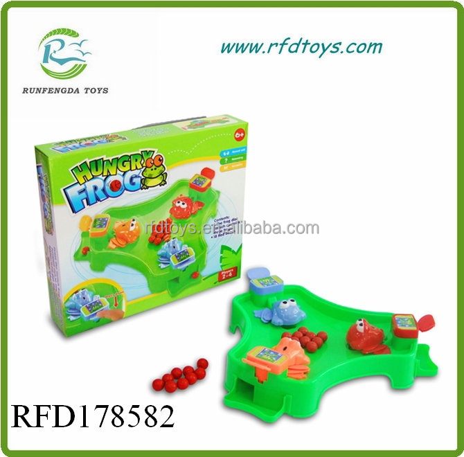Family game plastic shooting hungry animal frog kids education game hungry frog