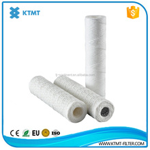40 inch string wound filter cartridge/cotton wound filter cartridges/5 micron pp yarn water filter