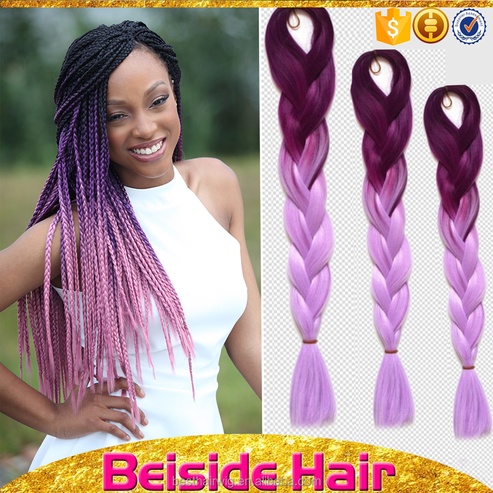 "Wholesale 24"" 43colors ombre colored synthetic jumbo braiding hair ombre braiding sangita hair"