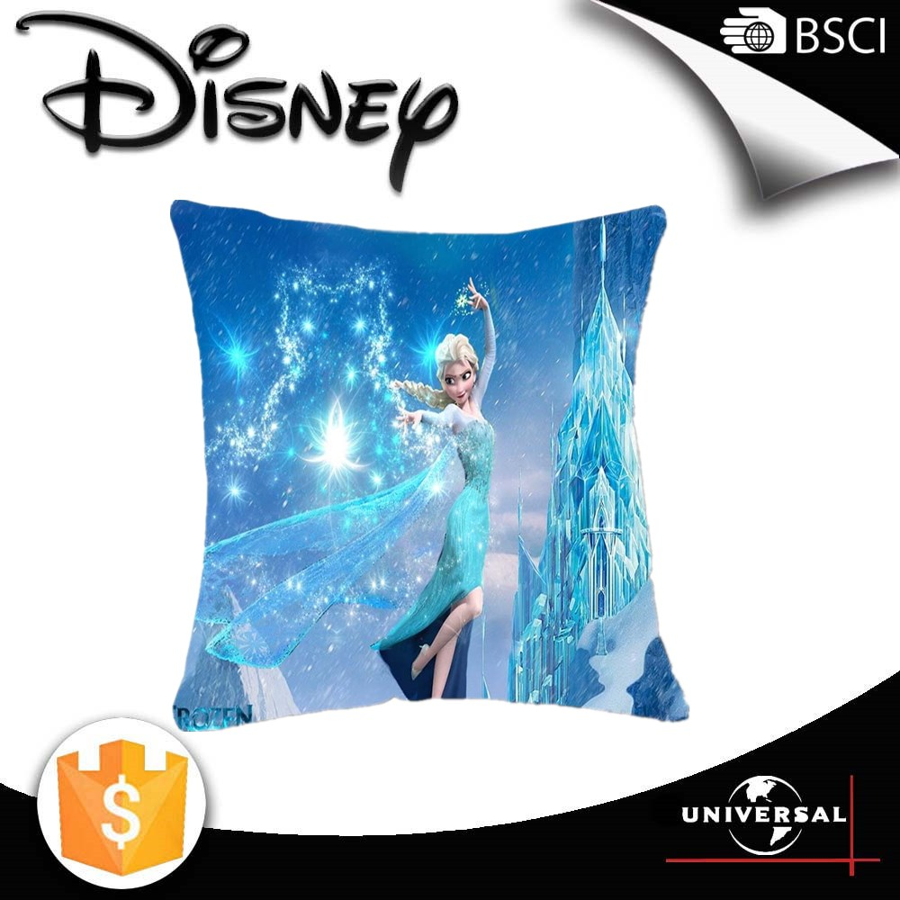 Disney license fabric 2016 new arrival frozen elsa digital printed cushion cover