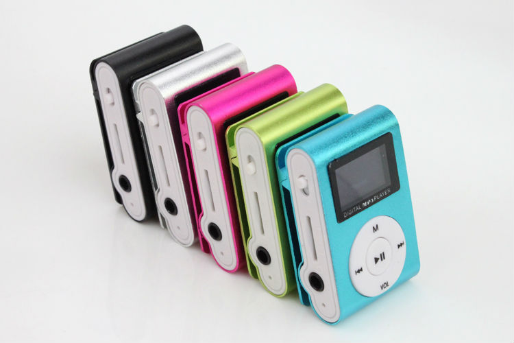 Portable MP3 LCD Screen Metal Mini Clip MP3 Player with Micro TF/SD Card Slot Sport Mp3 Music Players Walkman