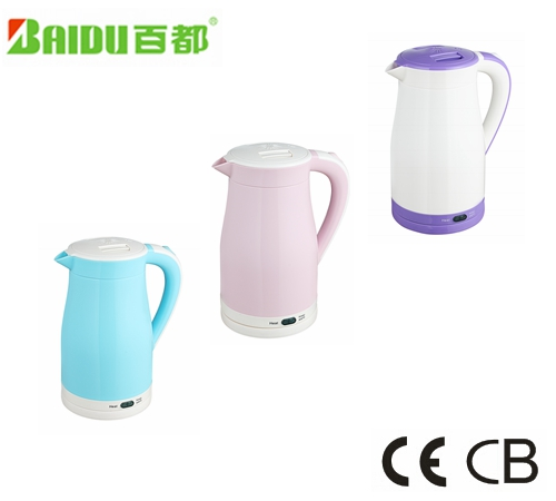 Baidu Large Mouth Speed Boil Energy Saving Stainless Steel Inner Electric Kettle 1.5Liter Double layer Small Home Appliance
