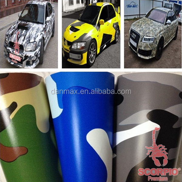 New styling DAN MAX 1.52*30m PVC car camouflage car wrapping film