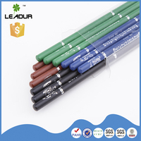 Wholesale Promotional custom logo wooden pencils with eraser