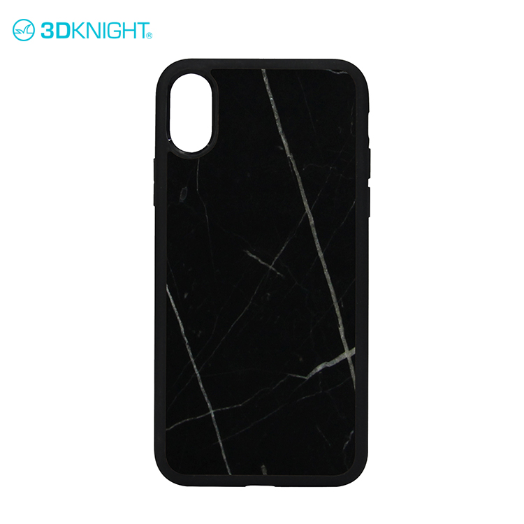 Real natural marble phone case case for iphone X black
