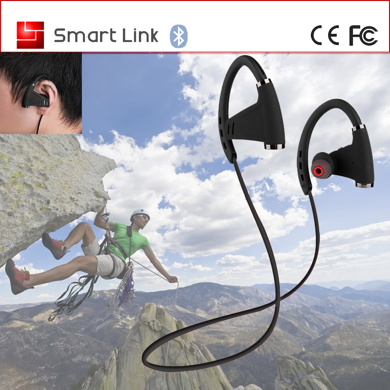 NFC 150 mAh waterproof stereo headphones sports bluetooth earphones earhook