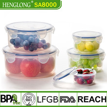 Amazon Kitchen china supplier transparent waterproof plastic lunch box