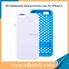 Dual protective case 2 in 1 3D sublimation cover for iPhone 6
