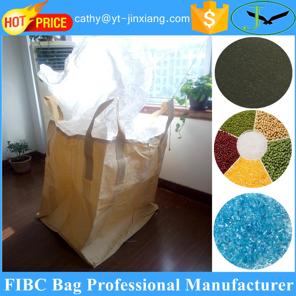 Storage and transportation use virgin pp woven polypropylene jumbo bag for grain