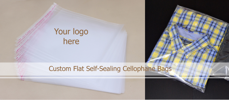 poly opp bopp cellophane packaging Clear Plastic Self Adhesive Bags