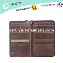 Stylish Leather for Traveller Woven Embossed Leather Traveller Long Wallet with 20 CC Slots for Men