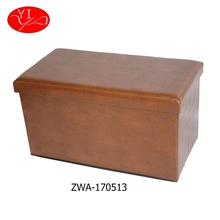 customized living room rectangle folding storage stool ottoman