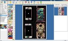cell phone skin&stickers templates for making customized mobile phone sticker