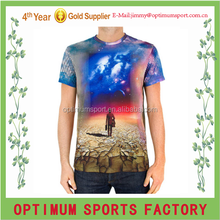 Full sublimated tee shirts 100% polyester fabric making T-shirt