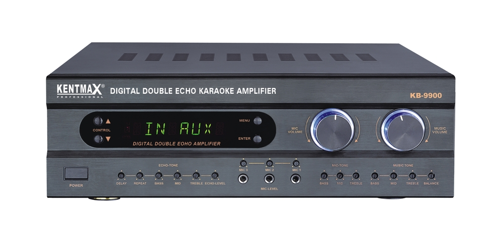 Professional karaoke stereo mixing amplifier with remote control