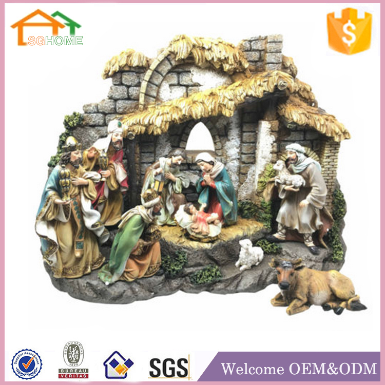 Factory Custom made home deccoration resin nativity camel figurine