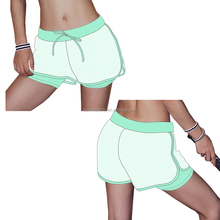 Wholesale sexy tight womens polyester gym workout shorts